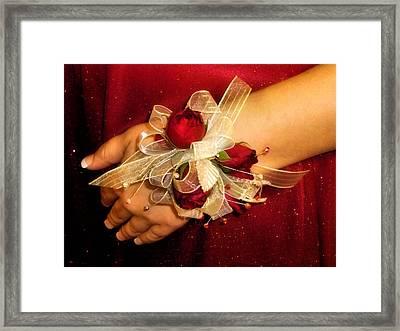 Prom Corsage Framed Print