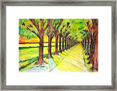Promenada Framed Print