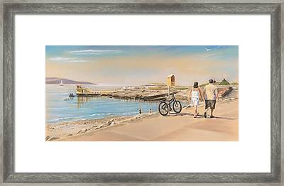 Promenade At Salthill Galway Framed Print by Vanda Luddy