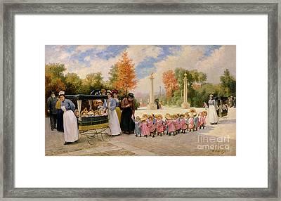 Promenade Des Enfants  Framed Print