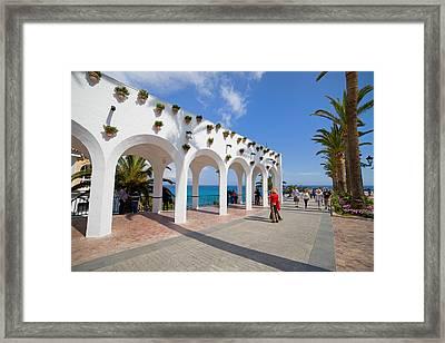 Promenade In Nerja Framed Print