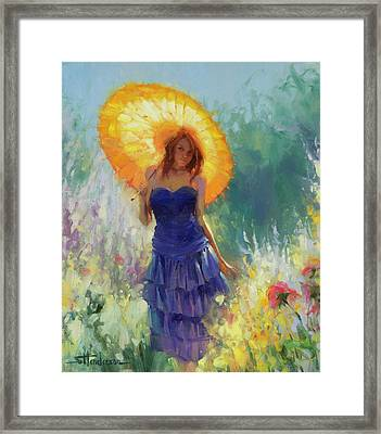 Framed Print featuring the painting Promenade by Steve Henderson