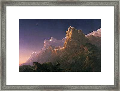 Prometheus Bound  Framed Print by Thomas Cole