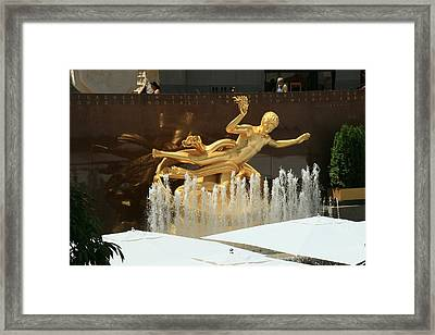 Prometheus -  Rockefeller Center Framed Print by Allen Beatty