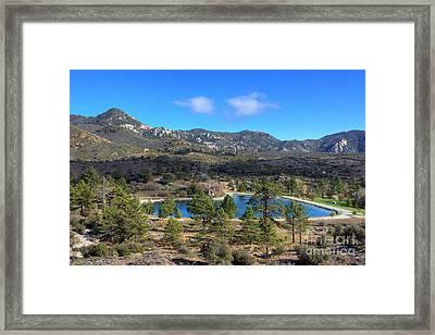 Promise Lake And Camp Scherman Framed Print by Eddie Yerkish