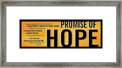 Promise Of Hope Framed Print by Shevon Johnson