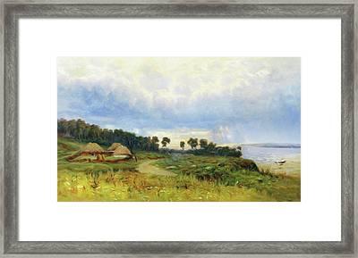 Promise Of Sunshine On A Winter Day Framed Print by Georgiana Romanovna