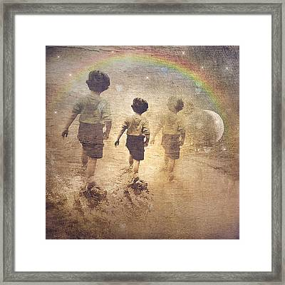 Phases Of The Journey--the Promise Of The Rainbow Framed Print