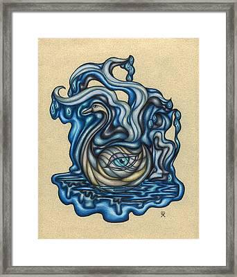 Promise Of The Swan Framed Print by Karen Musick