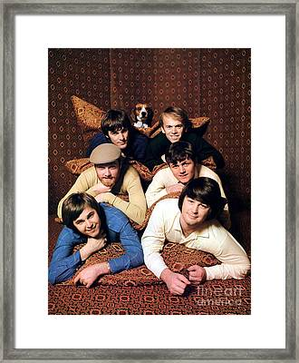 Promotional Photo Of The Beach Boys In A Tent 1966 Framed Print