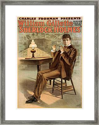 Promotional Poster For The Play Sherlock Holmes Framed Print by MotionAge Designs