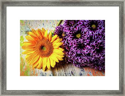 Proms With Sunflower Framed Print by Garry Gay