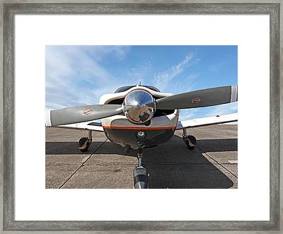 Piper Pa-32-300 Cherokee Six Prop  Framed Print by Gill Billington