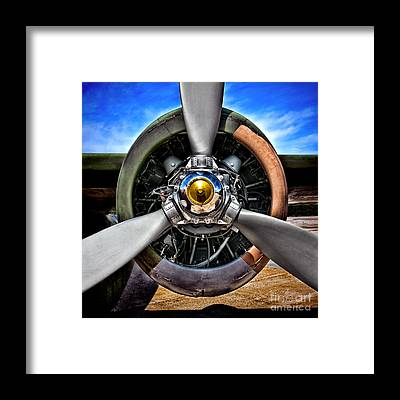 Propeller Framed Prints