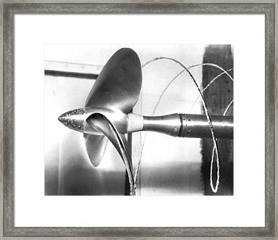 Propeller Cavitation Framed Print by National Physical Laboratory (c) Crown Copyright