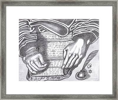 Prophesy Framed Print by Richard Heyman