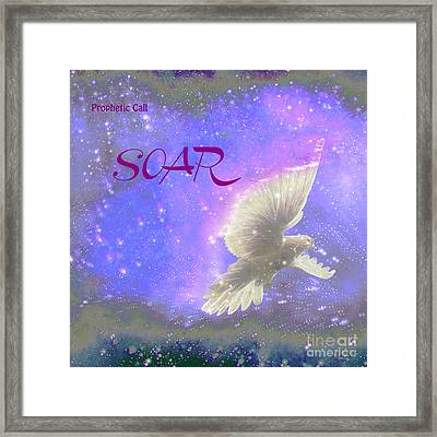 Prophetic Call Soar Framed Print by Beverly Guilliams