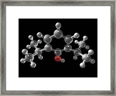 Propofol Molecule Framed Print