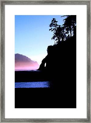 Proposal Rock Neskowin Beach Framed Print by Margaret Hood