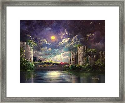 Proposal Underneath The Moon Framed Print
