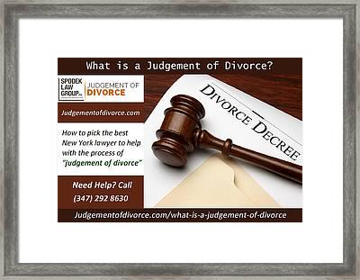 Proposed Final Judgement Of Divorce Framed Print by Henry Williams