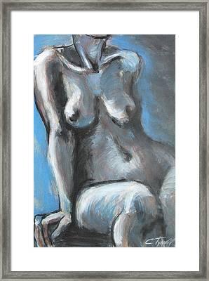 Propped Framed Print by Carmen Tyrrell
