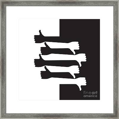 Pros And Cons Framed Print