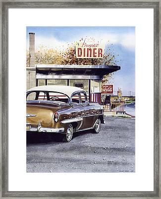 Prospect Diner Framed Print by Denny Bond