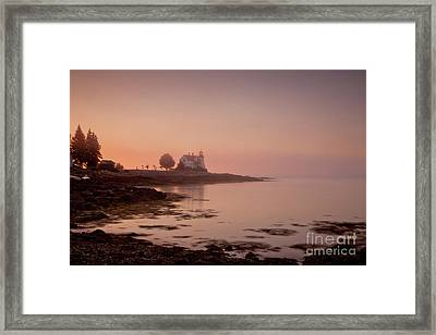 Prospect Harbor Dawn Framed Print