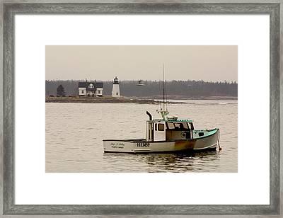 Prospect Harbor Lighthouse Framed Print