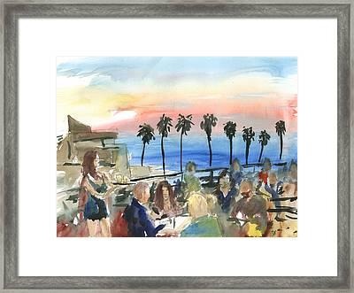 Prospect Of A Sunset Framed Print