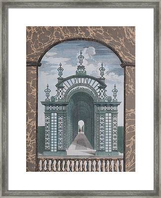 Prospect Of The Palace Of Chantilly Framed Print by MotionAge Designs