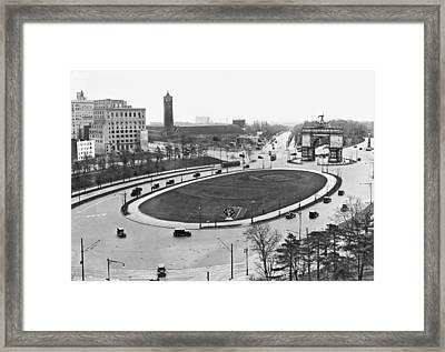 Prospect Park Plaza Framed Print by Underwood Archives