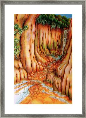 Prosperity Waterfall 1 Framed Print by Barbara Stirrup