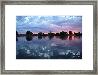 Prosser Pink Sunset 5 Framed Print by Carol Groenen