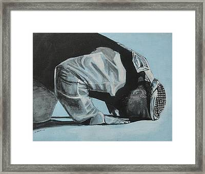 Prostration In Palestine Framed Print by Salwa  Najm