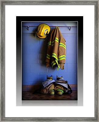 Protect And Serve Framed Print