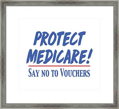 Framed Print featuring the drawing Protect Medicare by Heidi Hermes