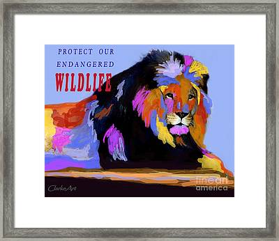 Protect Our Endangered Wildlife Framed Print
