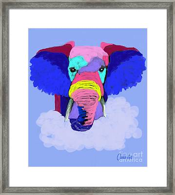 Protect Our Elephants Framed Print by Jean Clarke