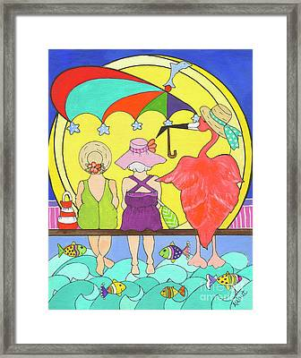 Protecting Friends Framed Print by Rosemary Aubut