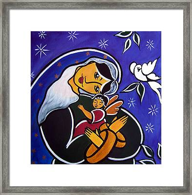 Framed Print featuring the painting Protector Of The Innocents by Jan Oliver-Schultz