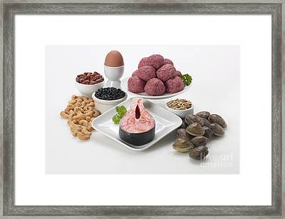 Proteins Framed Print by George Mattei