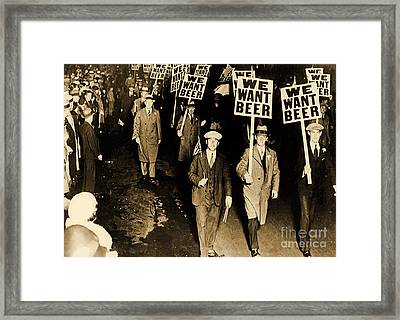 Protest Against Prohibition, New Jersey, 1931 Framed Print by American School