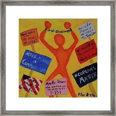 Protest Framed Print by Kilian Nance
