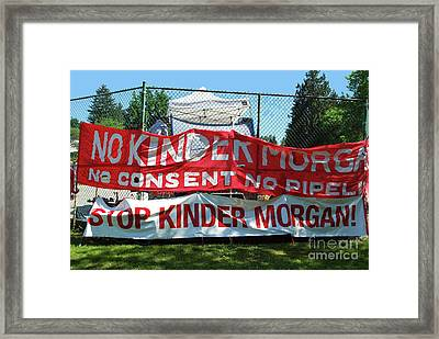 Framed Print featuring the photograph Protest Signs by Bill Thomson