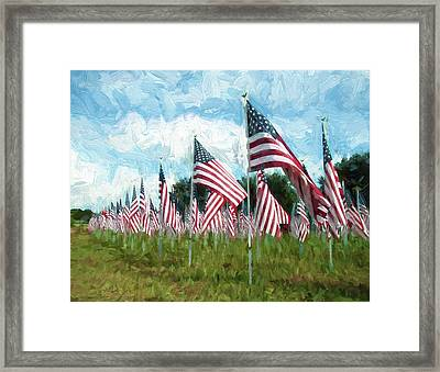 Proud And Free Framed Print