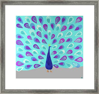 Proud As A Peacock Framed Print