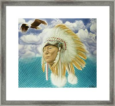 Proud As An Eagle Framed Print