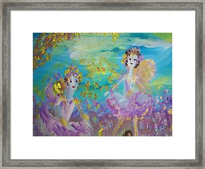 Proud Fairies Keep On Rolling Framed Print